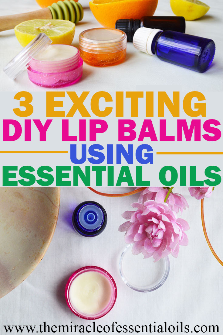 3 diy lip balm using essential oils including recipes