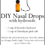 DIY Hydrosol Nasal Drops | Homemade Nose Drops Recipe