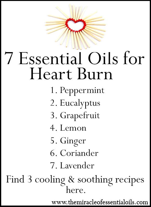 essential oils for heart burn