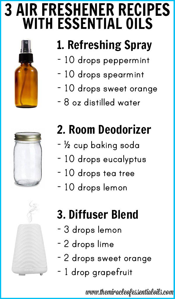 3 DIY Essential Oil Air Freshener Recipes