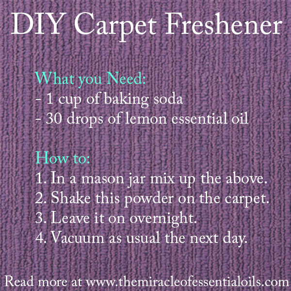 how to make a homemade carpet freshener with essential oils