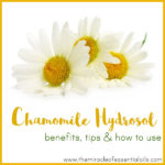 Chamomile Hydrosol Benefits, Tips & How to Use