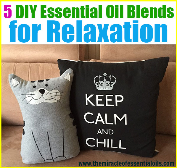 Enjoy 5 DIY essential oil blends for relaxation! Inhaler recipe, diffuser recipe and more!