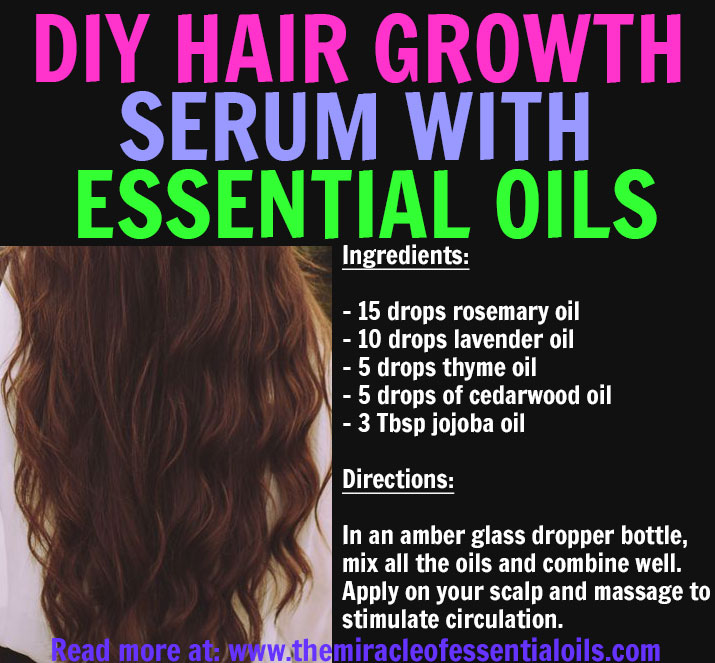 DIY Essential Oil Hair Growth Recipe - The Miracle of Essential Oils