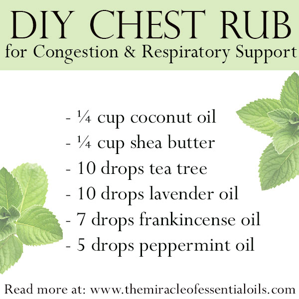 diy essential oil chest rub for congestion