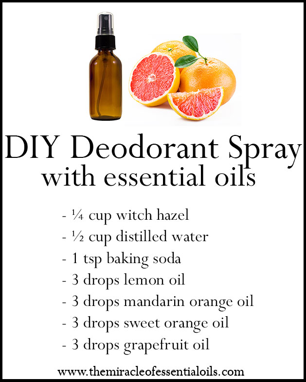 Diy Essential Oil Deodorant Spray Recipe The Miracle Of