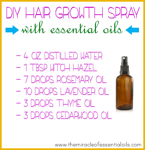 diy essential oil hair growth spray