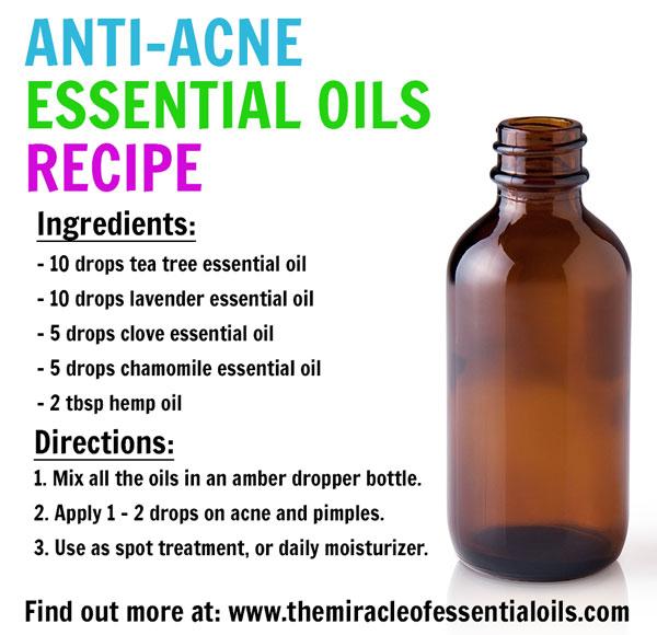 Potent Essential Oil Recipe for Acne Prone Skin