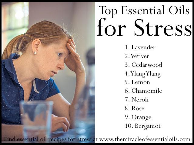 essential oil recipes for stress