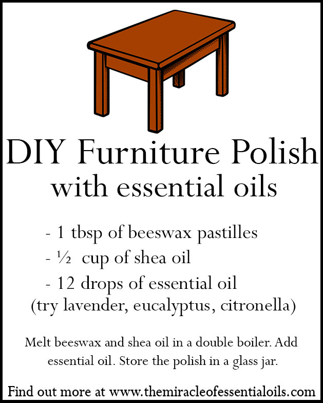 Homemade Essential Oil Furniture Polish
