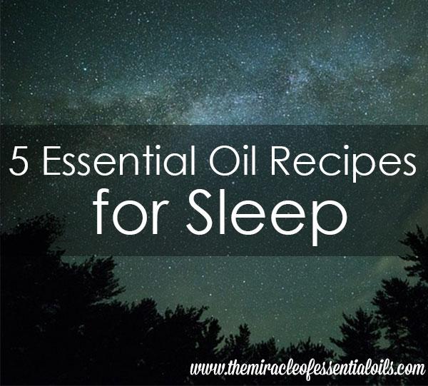 essential oil sleep blend recipes