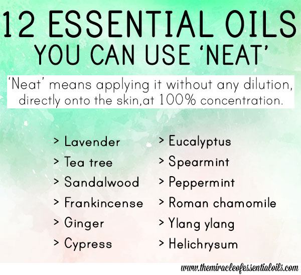 essential oils you can use neat