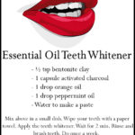 DIY Essential Oil Teeth Whitener Recipe
