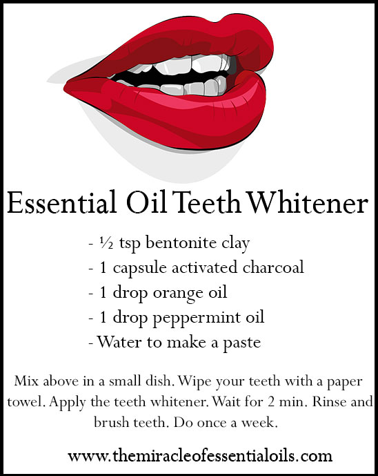Diy Essential Oil Teeth Whitener Recipe The Miracle Of Essential Oils