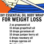 Homemade Essential Oil Weight Loss Wrap
