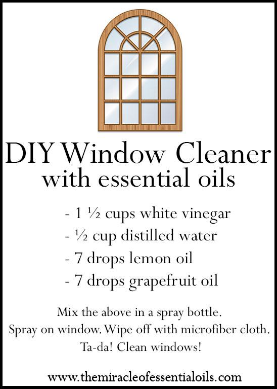 diy essential oil window cleaner