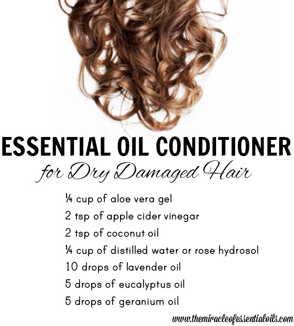 diy essential oil conditioner for dry damaged hair
