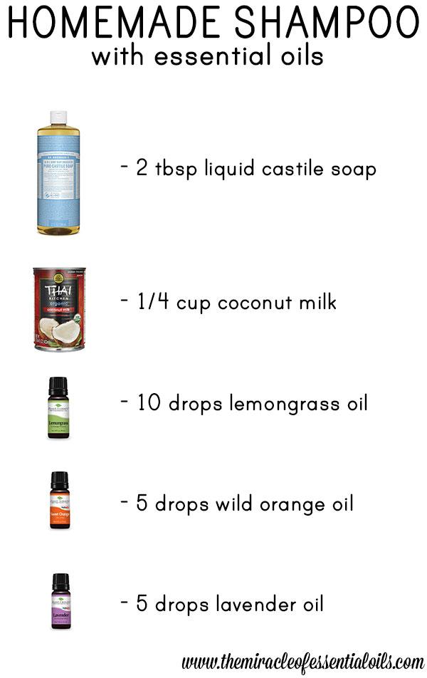 diy essential oil shampoo