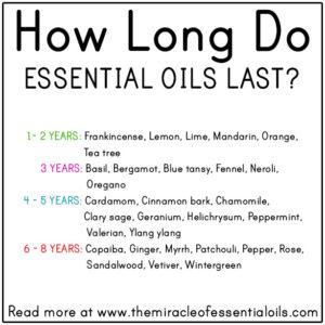 How Long Do Essential Oils Last?