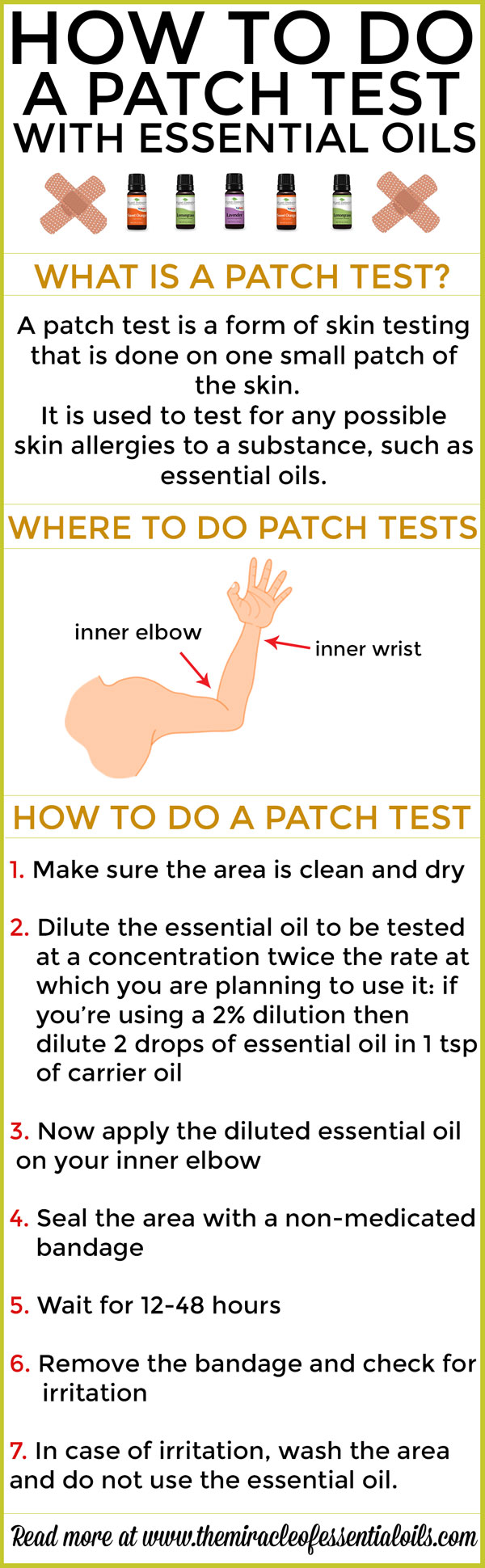 how to do a patch test