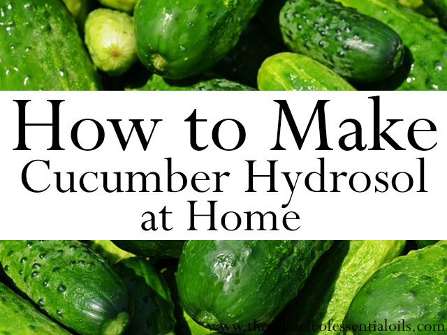 how to make cucumber hydrosol at home