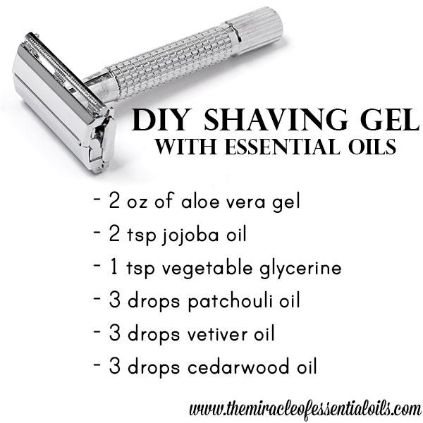 diy essential oil shaving gel for men