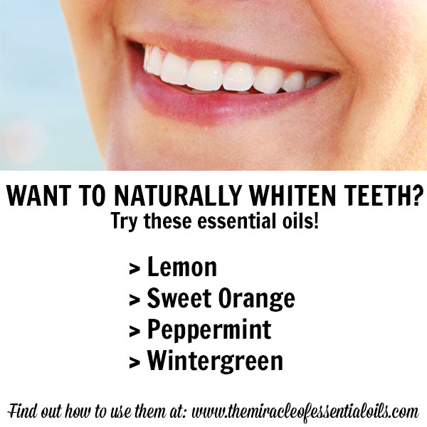 4 Essential Oils for Teeth Whitening & How to Use