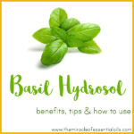 Basil Hydrosol Benefits, Tips & How to Use