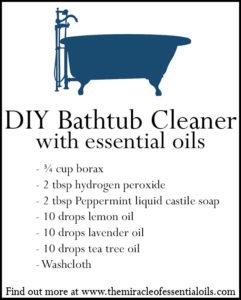 DIY Essential Oil Bathtub Cleaner