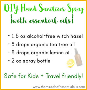 DIY Essential Oil Hand Sanitizer Spray