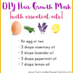 DIY Essential Oil Hair Growth Mask for Longer, Thicker & Lustrous Hair