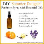 DIY Essential Oil Perfume Spray 'Summer Delights'