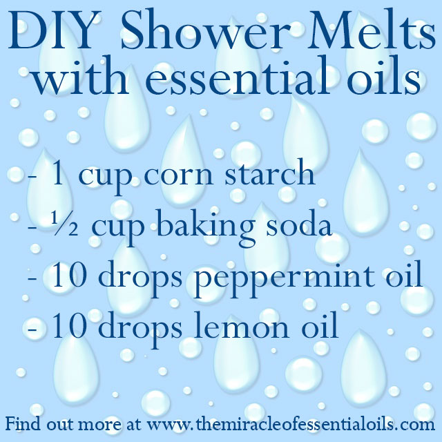 diy essential oil shower melts