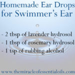 Natural Remedy for Swimmer's Ear with Homemade Ear Drops