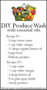 DIY Essential Oil Produce Wash