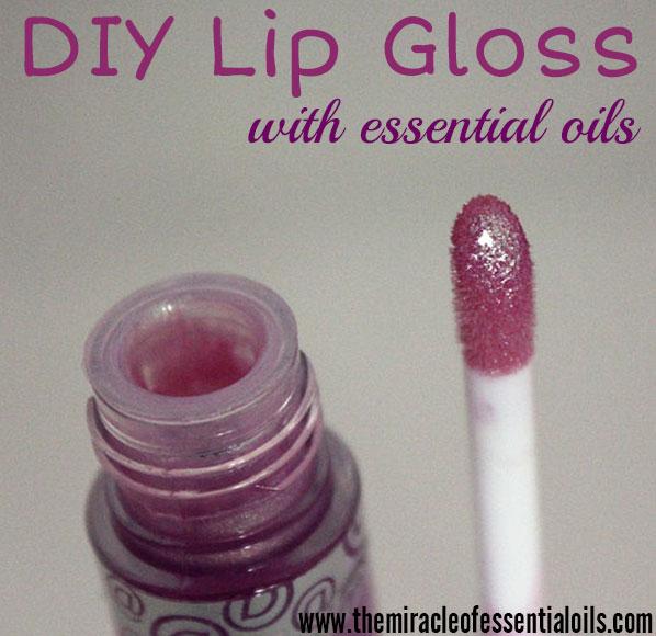 Make your own DIY essential oil liquid lip gloss!