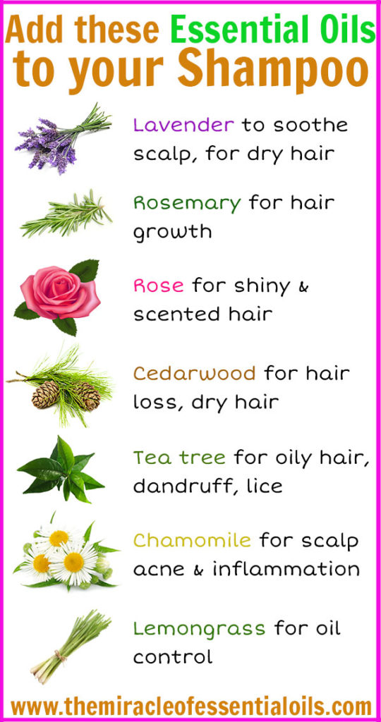 Here are 7 essential oils to add to your shampoo!