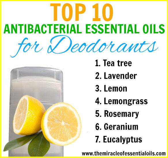 Find out the top 10 antibacterial essential oils for deodorant making at home!