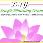 DIY Armpit Whitening Cream