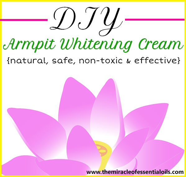 Afraid to lift your arms? Don't worry, this DIY armpit whitening cream can help!