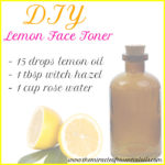 DIY Lemon Essential Oil Face Toner
