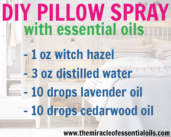 Use this DIY essential oil pillow spray to fall asleep faster and relax your mind while you drift off!