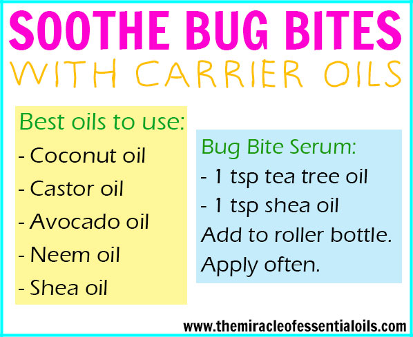 Remedies: Carrier Oils for Insect Bites - The Miracle of