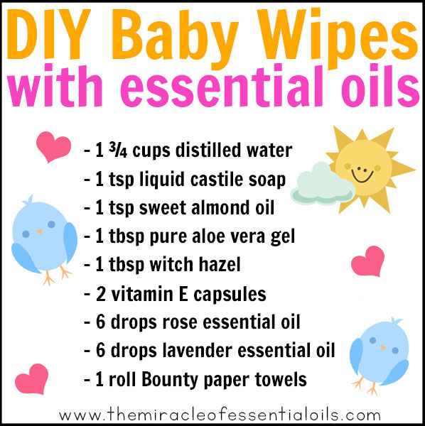 Make DIY essential oil baby wipes to avoid harsh chemicals and artificial fragrances on your baby's soft and sensitive skin!