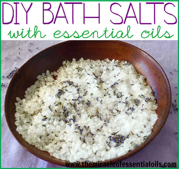 Making your own DIY essential oil bath salts is as easy as anything! Learn how to make bath salts with a very simple recipe in this post!