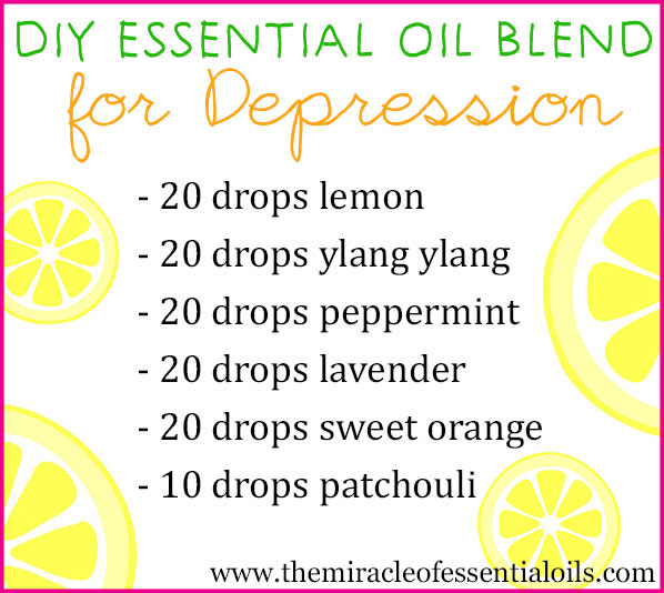 Feeling down? Make your own DIY essential oil blend for depression to uplift your spirits and improve your mood!