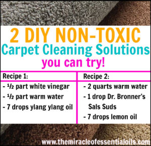 DIY Essential Oil Carpet Cleaner | 2 Non-Toxic Cleaning Solutions