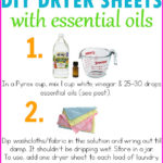 DIY Essential Oil Dryer Sheets