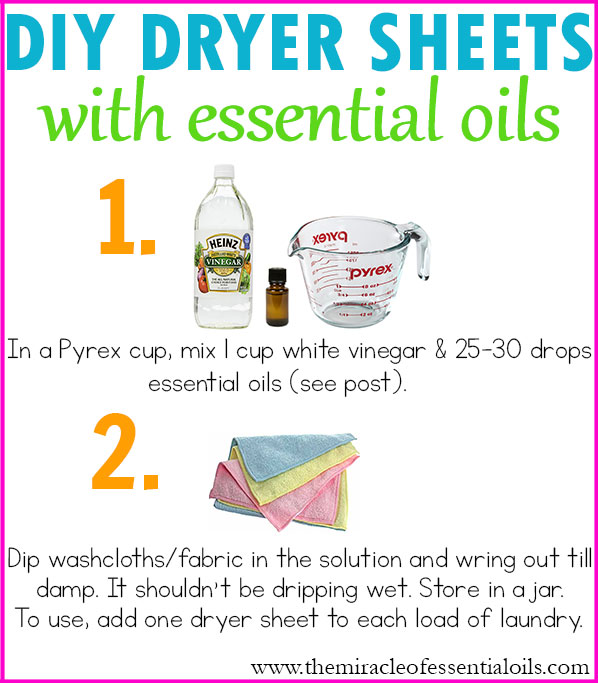 DIY Essential Oil Dryer Sheets