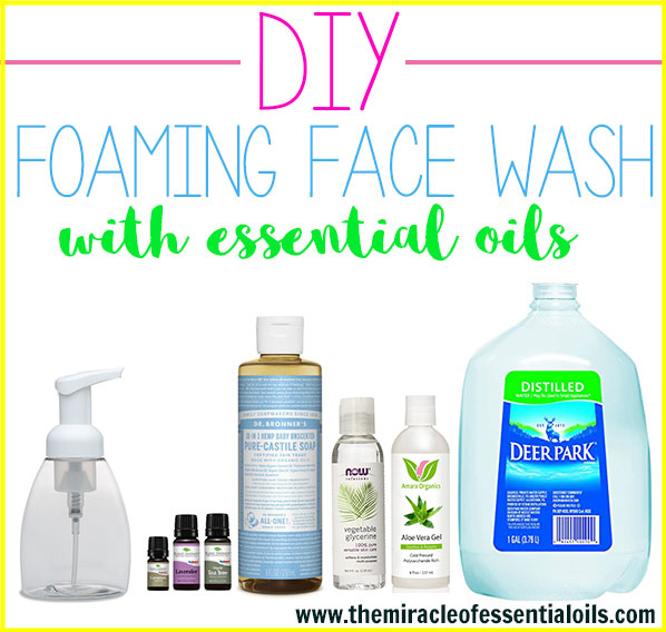 How to wash your face with essential oils the miracle of essential diy essential oil foaming face wash solutioingenieria Choice Image